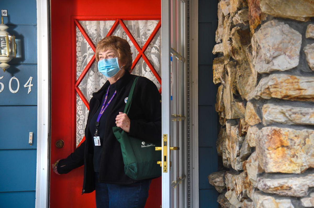 Health caregiver Susie Young has provided at-home care for many years. She has been on the front lines of long-term care in people's homes throughout the pandemic.